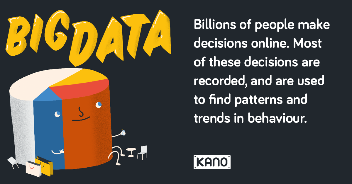 Big Data - Billions of people make decisions online, most of these decisions are recorded, and are used to find patterns and trends in behaviour.