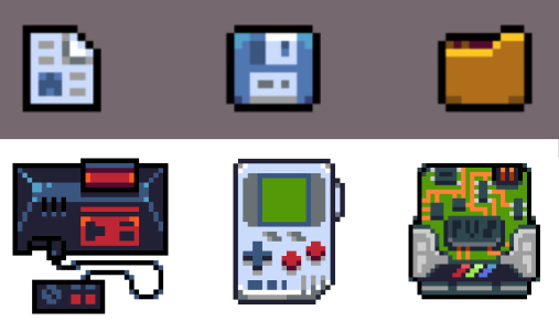 Pixel Vision 8 Icons