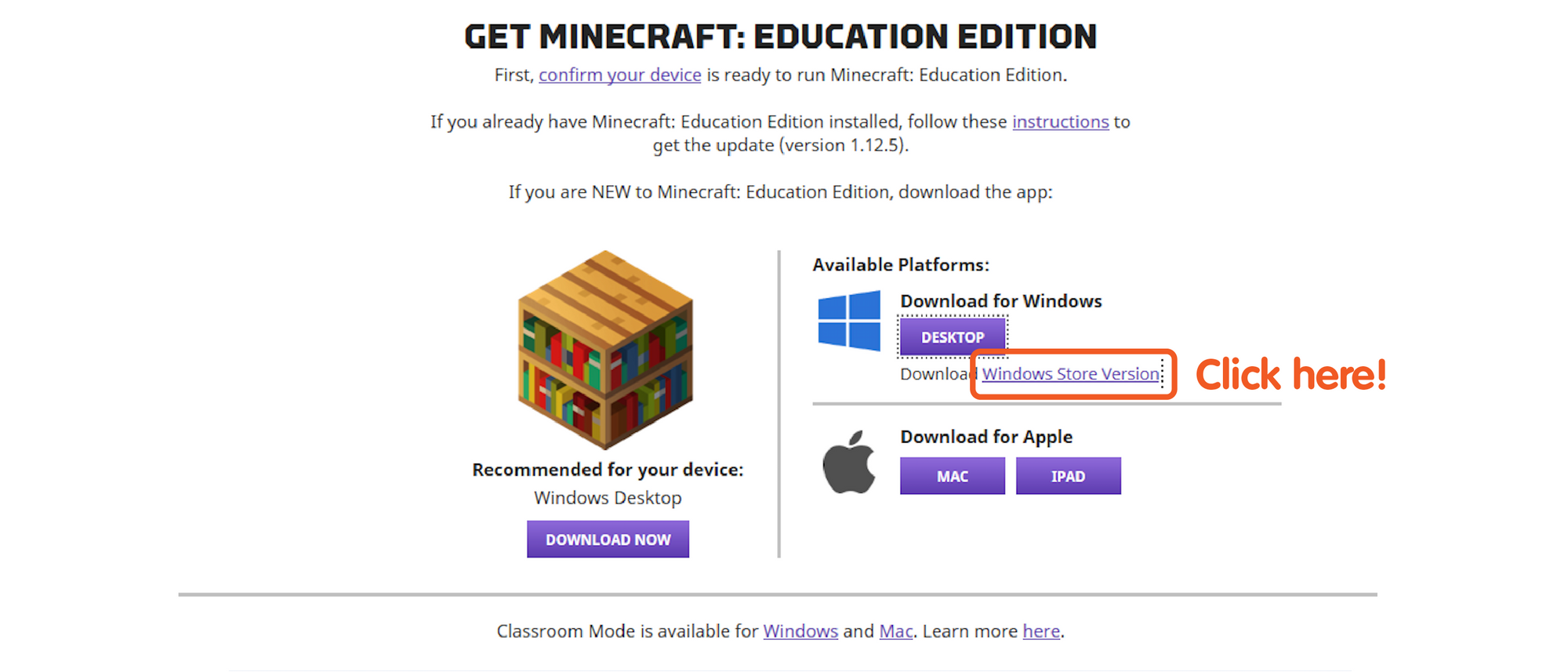 Getting started with Minecraft Education Edition